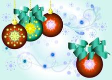 De verfraaide ballen van Kerstmis Royalty-vrije Stock Fotografie