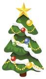 De verfraaide boom van Kerstmis vector Royalty-vrije Stock Foto