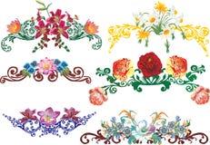 De verfraaide elementen van Olor bloem Royalty-vrije Stock Foto