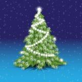 De verfraaide Kerstmiskerstboom Royalty-vrije Stock Fotografie