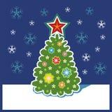 De verfraaide Nieuwjaarboom royalty-vrije illustratie
