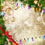 De verfraaide snuisterijen van Kerstmis Eps 10 Stock Afbeeldingen
