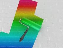 De verfrol van de regenboog Royalty-vrije Stock Foto's