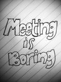 De vergadering is boring stock foto's