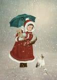 De vergadering vóór Kerstmis Stock Fotografie