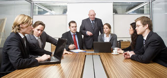 De vergadering van de bestuurskamer Royalty-vrije Stock Foto's