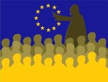 De vergadering van de EU stock illustratie