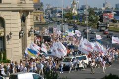 De Vergadering van de massa van Oekraïense oppositie Royalty-vrije Stock Fotografie