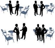 De vergadering van de zakenman en van de onderneemster Royalty-vrije Stock Foto's