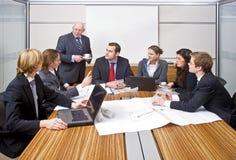 De Vergadering van het beheer stock afbeelding