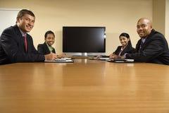 De vergadering van het bureau. royalty-vrije stock foto