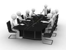 De vergadering van het bureau in conferentieruimte vector illustratie