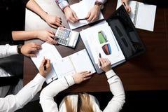 De vergadering van het businessplan Stock Foto's