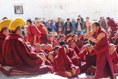 De vergadering van het Heilig Schriftdebat van Sera Monastery Stock Fotografie