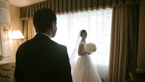 De Vergadering van het huwelijkspaar stock videobeelden
