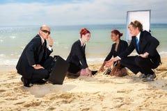 De vergadering van het strand Stock Afbeeldingen