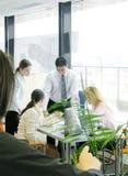 De vergadering van het team Stock Foto