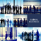 De Vergaderings Communicatie van de bedrijfsmensenhanddruk Bureauconcept Royalty-vrije Stock Afbeeldingen