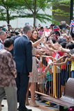 De vergaderings goed wishers van William van Kate Middleton en van de Prins, Sept. 2012 van Singapore 12 Royalty-vrije Stock Fotografie