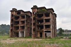 De övergav byggnaderna Arkivfoton