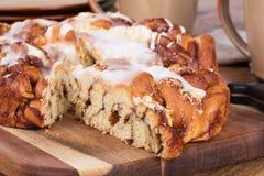 De verglaasde Cake van de Streuselkoffie Royalty-vrije Stock Afbeelding