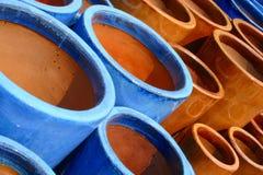 De verglaasde Samenvatting van het Terracotta Royalty-vrije Stock Afbeeldingen