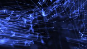 De vergrote cellen met vlechtdriehoek met punten vormen blauw vector illustratie