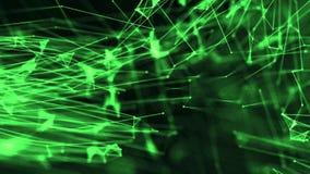 De vergrote cellen met vlechtdriehoek met punten vormen groen stock illustratie