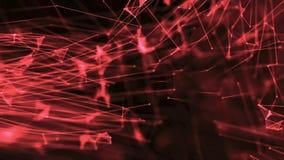 De vergrote cellen met vlechtdriehoek met punten vormen rood stock illustratie