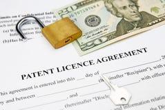 De vergunningsovereenkomst van het octrooi Royalty-vrije Stock Afbeeldingen