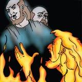 De verhalen van de bijbel - de Rijke man en Lazarus Stock Foto's