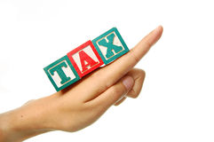 De verhoging van de belasting Stock Foto's