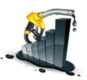 De verhoging van de benzine vector illustratie
