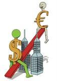 De verhoging van de euro Royalty-vrije Stock Foto's