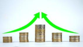 De verhoogde rentabiliteit van ondernemingen stock foto