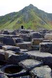 De Verhoogde weg Noord-Ierland 1 van reuzen stock foto