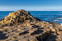 De Verhoogde weg van de reus, Noord-Ierland stock foto's