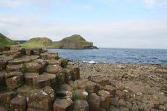 De Verhoogde weg van de reus, Noord-Ierland stock foto