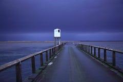 De Verhoogde weg van Lindisfarne Stock Afbeelding