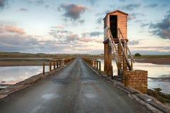 De Verhoogde weg van Lindisfarne stock foto's
