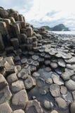 De Verhoogde weg van reuzen, Noord-Ierland royalty-vrije stock afbeelding