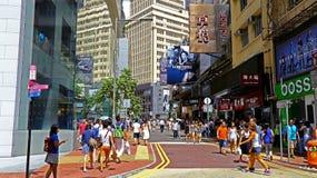 De verhoogde wegbaai van de binnenstad, Hongkong royalty-vrije stock afbeeldingen