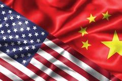 De verhouding van de V.S. en van China Stock Foto