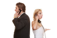 De verhoudingsmoeilijkheden van het huwelijkspaar Royalty-vrije Stock Afbeelding