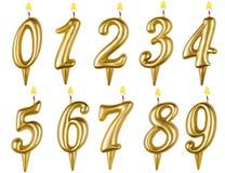 De verjaardag schouwt aantalreeks op wit wordt geïsoleerd dat Stock Foto's