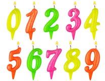 De verjaardag schouwt geïsoleerde aantalreeks Royalty-vrije Stock Afbeelding