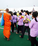 De verjaardag van Boedha in Thailand royalty-vrije stock afbeelding