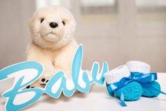 De verjaardag van de baby Stock Afbeeldingen