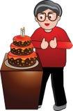 De Verjaardag van de opa stock illustratie