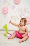 De verjaardag van het babymeisje Royalty-vrije Stock Afbeeldingen
